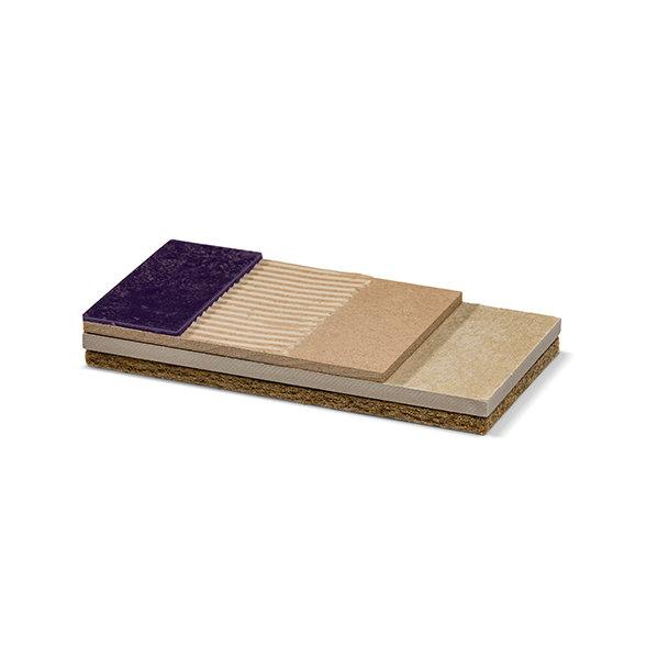 Ondervloersysteem, uitermate geschikt voor houten draagvloeren, voor o.a. vinyl, PVC stroken en linoleum. Met NSG certificering!